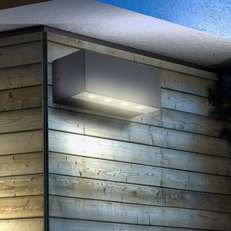 Moderne Led 4 Watt Leuchte Aluminium Wand Lampe Balkon Garage Auen intended for measurements 1000 X 1000