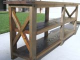Ana White Diy Rustic X Console Table Diy Projects throughout proportions 2346 X 3128