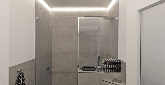 Indirekte Beleuchtung Im Badezimmer Plameco Decke Mit Led Stripes intended for proportions 953 X 1433