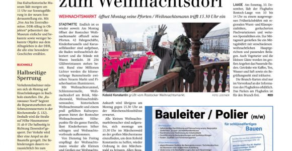 Warnow Kurier Am Wochenende 25112017 intended for sizing 800 X 1194